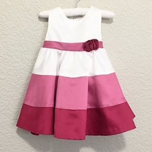 Baby Girl White Pink Party Dress